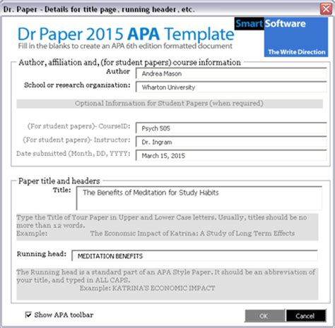 creating  word document formatted    student paper