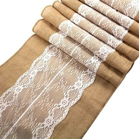 84 inch table runner s moment 12 x 84 inch burlap white lace hessian table
