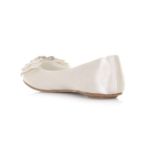 bridal flat shoes ivory womens flat ivory satin wedding shoes