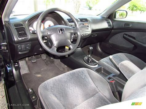Civic 2002 Interior by Black Interior 2002 Honda Civic Lx Coupe Photo 51716389