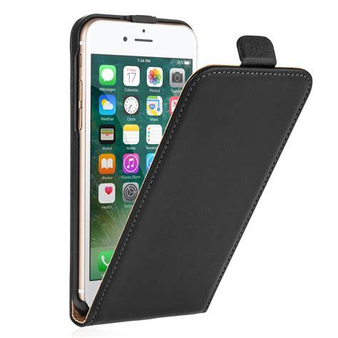 Leather Black Iphone 7 caseflex iphone 7 real leather flip black mobi