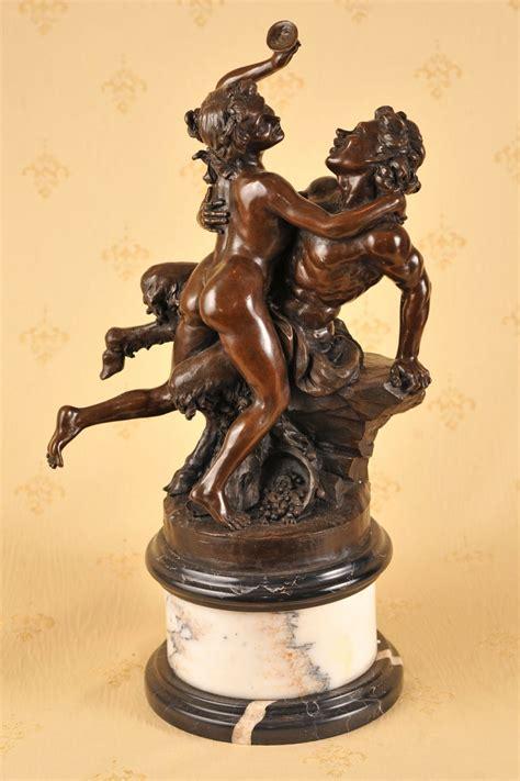 Classix Statue classic bronze bacchus satyre sabine statue ebay