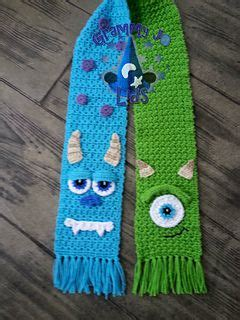 He Me Spectrum Scarf scarf pattern by joanne grimm thompson monsters