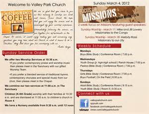 church bulletin template