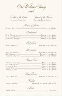 wedding programs wording templates wedding programs wedding program wording program sles