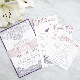 Chicago Cultural Center Letterpress Wedding Invitation