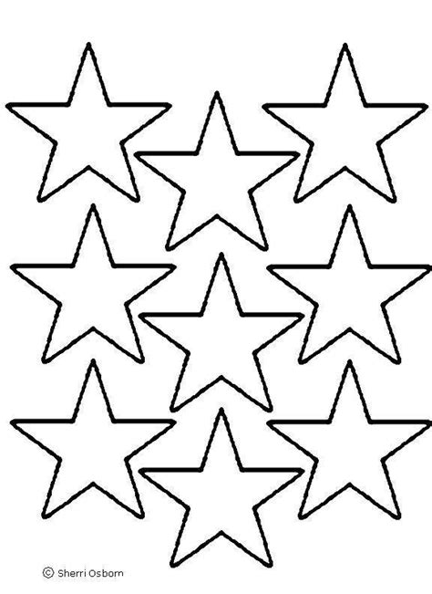 printable american flag stars star template small cliparts co