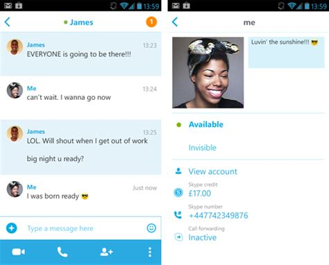 user profile layout in android skype rolls out a faster and lighter android app