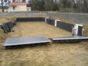piscine en kit bois piscine en kit enterr 233 e beton