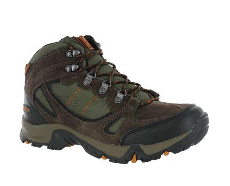 mens hi tec falcon brown leather waterproof walking hiking