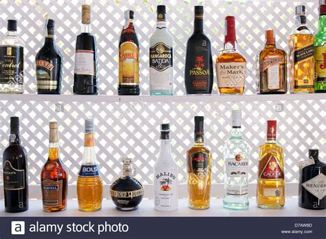 Does Liquor A Shelf by Colorful Liquor Bottles On A Shelf At A Bar In Ibiza