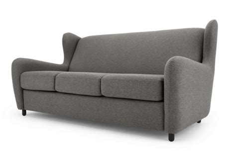 high back sofa bed rubens 3 seater grey sofa bed with high back absolute home