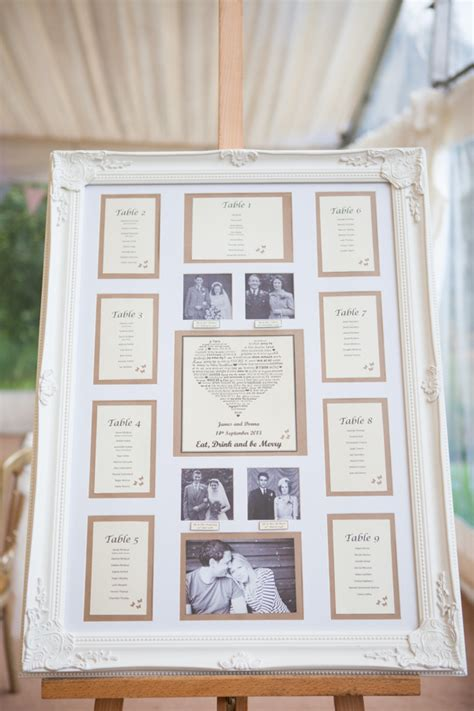 how to use picture frames to make wedding planning easier - Wedding Seating Plan Picture Frames