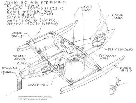 trimaran rudder design trimaran hull design trimaran sailboat plans sailboats