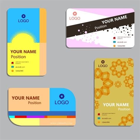 Business Card Layout Illustrator