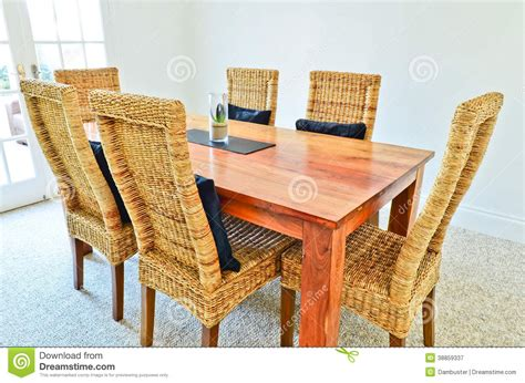 natural wood dining room tables dining room table and chairs stock photo image 38859337