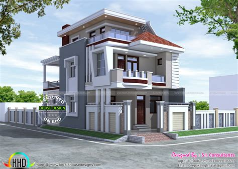 home architect design 25x50 beautiful modern home kerala home design and floor