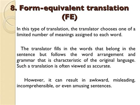 thesis about equivalence in translation theory translation types