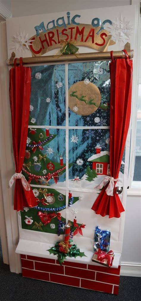 christmas bulletin decoration ideas images door decoration contest 1st place accounting department door decoration