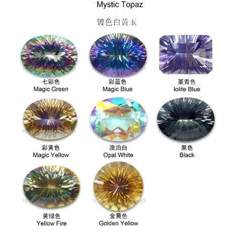 topaz colors semi precious magic green rainbow color mystic topaz