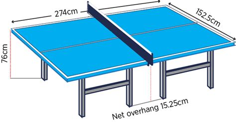 table tennis dimensions table tennis