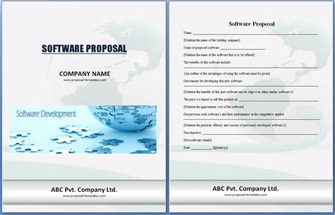 software project proposal template excel xlts