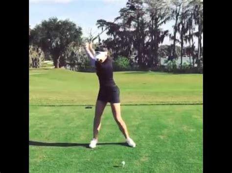 sandra gal golf swing sandra gal face on driver golf swing youtube