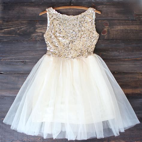 16 Best Sequin Dresses For Fall Winter 2009 2010 by Sugar Plum Gold Sequin From Shophearts