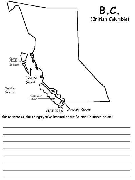 bc map coloring page british columbia map