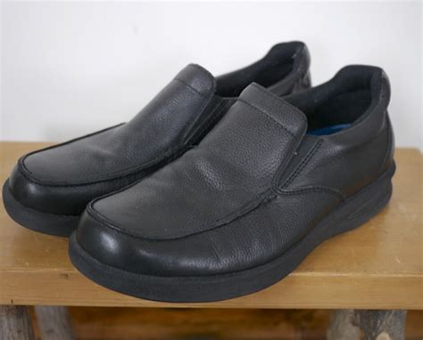 scholl comfort shoes dr scholl s mens black leather jason slip on loafers