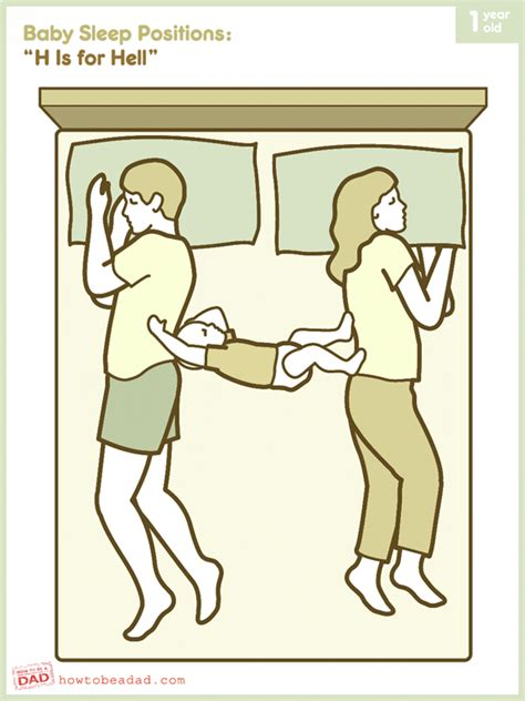 Couples Sleeping Meme - baby sleep positions h is for hell how to be a dad