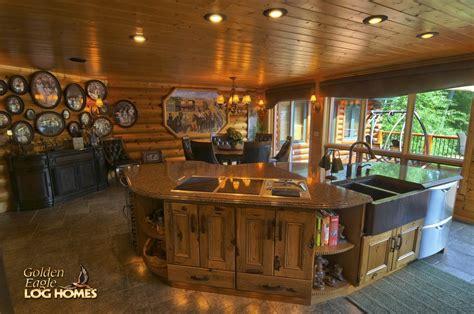 log home kitchen islands golden eagle log and timber homes log home cabin