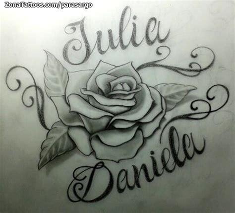 imagenes de tatuajes de nombres en letra cursiva dise 241 o de rosas nombres daniela tatuajes and tattoo