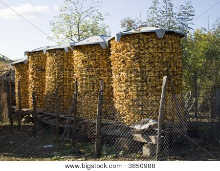 Big Corn Crib by Corn Cribs Stock Photo Stock Images Bigstock