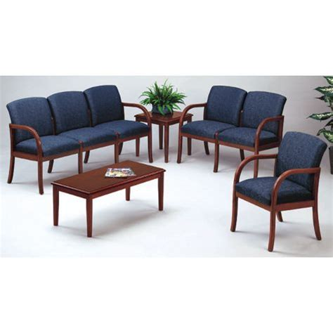 waiting room couch weston transitional reception seating set
