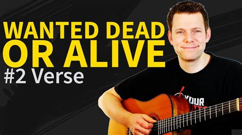 tutorial wanted dead or alive guitar lesson tab wanted dead or alive by bon jovi p2