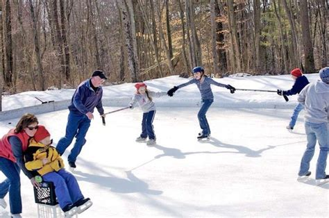 diy backyard ice rink backyard ice rink diy home projects outdoor fun pinterest