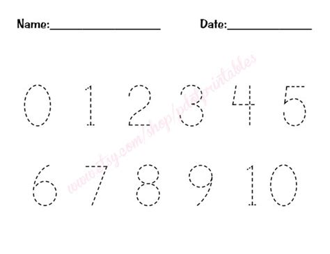 printable numbers to trace 1 10 free worksheets 187 tracing numbers 1 10 free math
