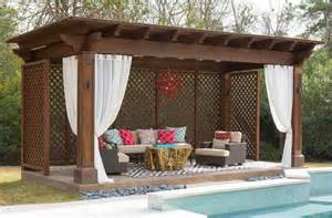 Outdoor Curtains For Pergola Pergola Design Ideas Outdoor Pergola Curtains Swimming