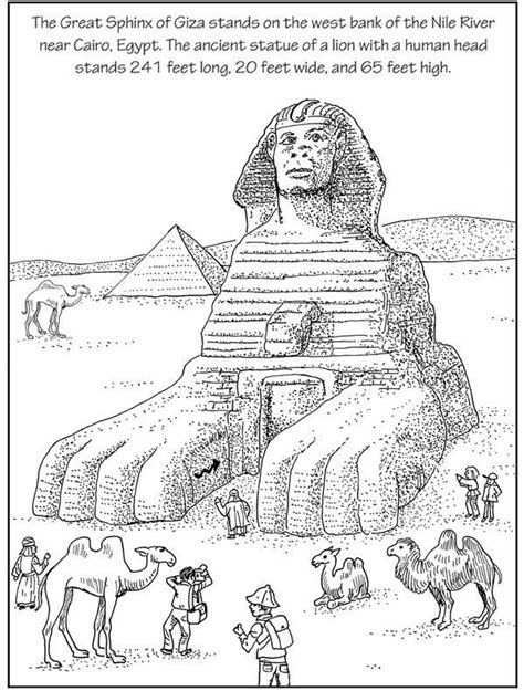 Sphinx Coloring Page the great sphinx check out the great sphinx