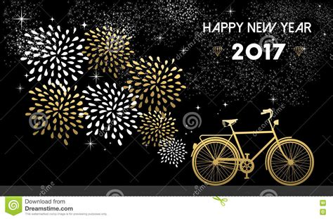 new year gold vector new year 2017 gold bike celebration background vector