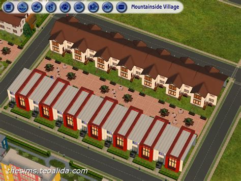 Small Three Bedroom House Plans Terraced Rowhouses The Sims Fan Page