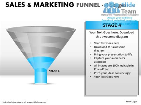 Conversion Funnel With 4 Stages Power Point Slides And Ppt How To Make A Funnel In Powerpoint