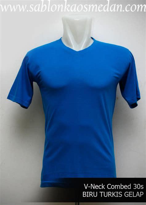 Kaos Polos O Neck Biru Turkis Gelap Ukuran Cotton Combed 20s sablon kaos medan sablon kaos murah dan lengkap
