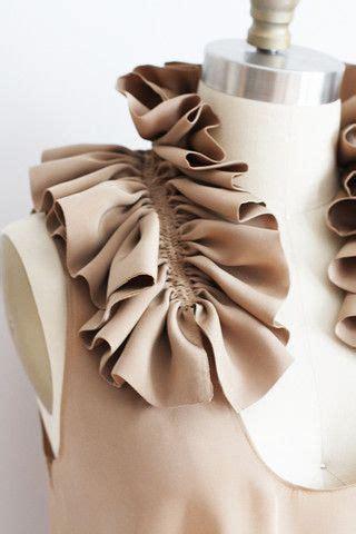 pattern making gathers ruffle collar using decorative gathering fabric
