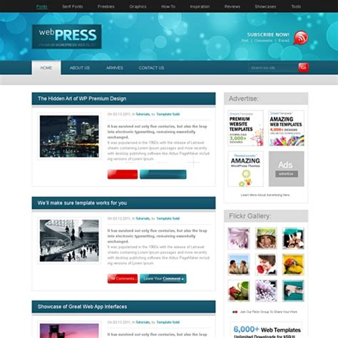 webpress wordpress template wp personal creative