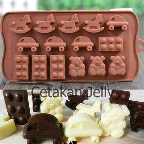 Cetakan Coklatpuding 54 cetakan silikon coklat puding toys cetakan jelly cetakan jelly