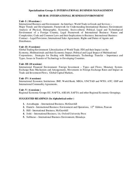 Mba In Environment Management Syllabus For Semester by Mba Syllabus Iii Iv Semester 2013 14