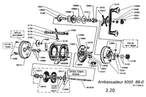 abu garcia reel parts diagram reel schematics abu garcia abu garcia 6000 parts list