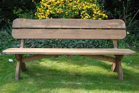 outdoor bench how to make your own garden bench from an one